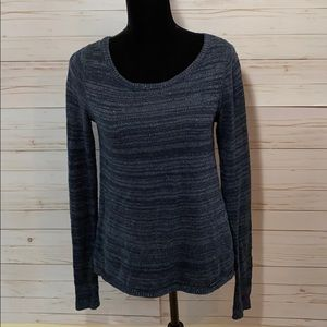 Hollister Navy Blue Sweater With Lace Back
